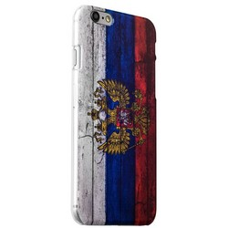 Чехол-накладка UV-print для iPhone 6s Plus/ 6 Plus (5.5) пластик (гербы и флаги) Флаг России тип 001