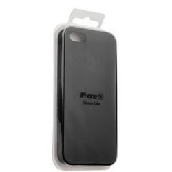 Чехол-накладка силиконовый Silicone Case для iPhone SE/ 5S/ 5 Черный №18