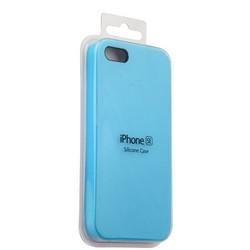 Чехол-накладка силиконовый Silicone Case для iPhone SE/ 5S/ 5 Голубой