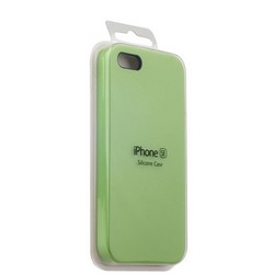 Чехол-накладка силиконовый Silicone Case для iPhone SE/ 5S/ 5 Мятный