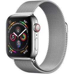 Apple Watch Series 4 GPS + Cell 40mm Stainless Steel Case with Milanese Loop MTUM2LL/A