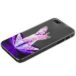 Чехол-накладка Creative для iPhone SE/ 5S/ 5 пластик со стразами тип 14