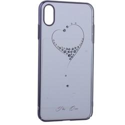 """Чехол-накладка KINGXBAR для iPhone XS Max (6.5"""") пластик со стразами Swarovski 49F черный (The One)"""
