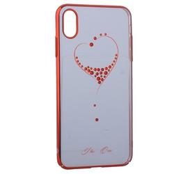 "Чехол-накладка KINGXBAR для iPhone XS Max (6.5"") пластик со стразами Swarovski 49F красный (The One)"