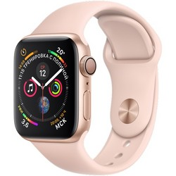 Apple Watch Series 4 (GPS) 40mm Gold Aluminum Case with Pink Sand Sport Band (MU682)