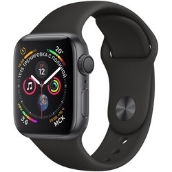 Apple Watch Series 4 GPS 40mm Space Gray Aluminum Case with Black Sport Band MU662 (Серый космос / Черный)