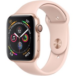 Apple Watch Series 4 GPS, 44 mm Gold Aluminum Case with Pink Sand Sport Band MU6F2