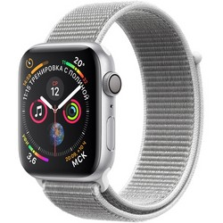 Apple Watch Series 4 44mm Silver Aluminum Case with Seashell Sport Loop GPS