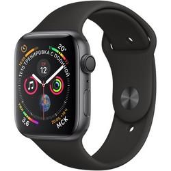 Apple Watch Series 4 GPS, 44mm Space Gray Aluminum Case with Black Sport Band (Серый космос/Черный) MU6D2
