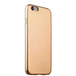 Чехол-накладка кожаная ультра-тонкая для iPhone 6S/ 6 (4.7) Gold - Золотистый