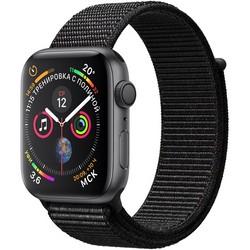 Apple Watch Series 4 44mm Space Gray Aluminum Case with Black Sport Loop GPS