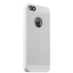 Накладка пластиковая ультра-тонкая Lodpee для iPhone SE/ 5s/ 5 с перфорацией Белая