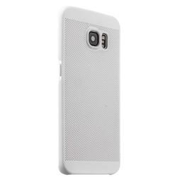 Накладка пластиковая ультра-тонкая Lodpee для Samsung GALAXY S6 Edge Plus с перфорацией Белая