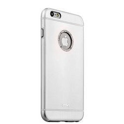 Накладка металлическая iBacks Ares Armour Love Aluminum Case with Crystal Diamond для iPhone 6s Plus (5.5) - (ip60291) Silver