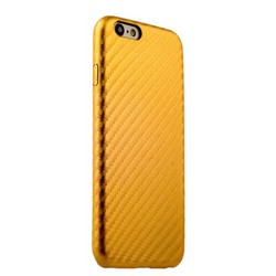Накладка (карбон) ультра-тонкая для iPhone 6s/ 6 (4.7) Золотистая