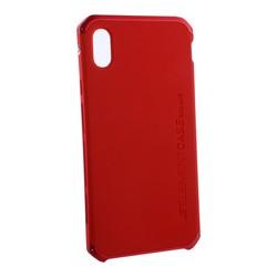 """Чехол-накладка противоударный (AL&Pl) для Apple iPhone XS Max (6.5"""") Solace Красный (красный ободок)"""