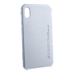 "Чехол-накладка противоударный (AL&Pl) для Apple iPhone XS Max (6.5"") Solace Серебристый (серебристый ободок)"