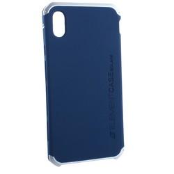 "Чехол-накладка противоударный (AL&Pl) для Apple iPhone XS Max (6.5"") Solace Синий (серебристый ободок)"