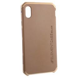 """Чехол-накладка противоударный (AL&Pl) для Apple iPhone XS Max (6.5"""") Solace Золотистый (золотистый ободок)"""