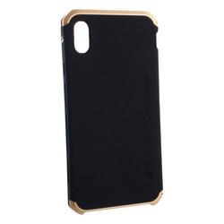 """Чехол-накладка противоударный (AL&Pl) для Apple iPhone XS Max (6.5"""") Solace Черный (золотистый ободок)"""