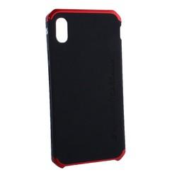 """Чехол-накладка противоударный (AL&Pl) для Apple iPhone XS Max (6.5"""") Solace Черный (красный ободок)"""