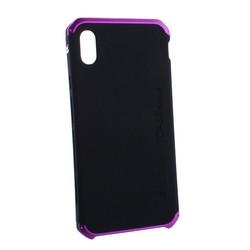 """Чехол-накладка противоударный (AL&Pl) для Apple iPhone XS Max (6.5"""") Solace Черный (фиолетовый ободок)"""