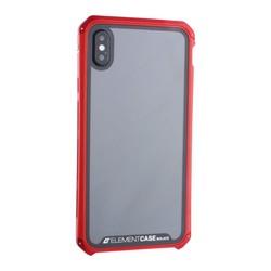 """Чехол-накладка противоударный (AL&Glass) для Apple iPhone XS Max (6.5"""") G-Solace красный ободок"""