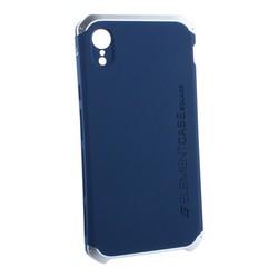 "Чехол-накладка противоударный (AL&Pl) для Apple iPhone XR (6.1"") Solace Синий (серебристый ободок)"