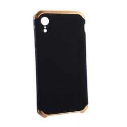 """Чехол-накладка Element Case (AL&Pl) для Apple iPhone XR (6.1"""") Solace Черный (золотистый ободок)"""