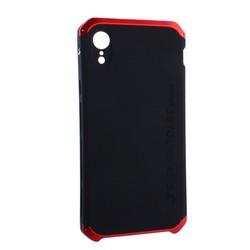 """Чехол-накладка противоударный (AL&Pl) для Apple iPhone XR (6.1"""") Solace Черный (красный ободок)"""