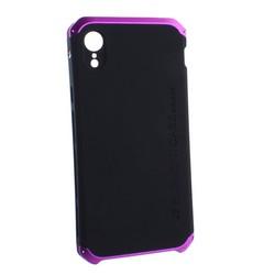 """Чехол-накладка противоударный (AL&Pl) для Apple iPhone XR (6.1"""") Solace Черный (фиолетовый ободок)"""