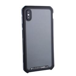 """Чехол-накладка противоударный (AL&Glass) для Apple iPhone XS Max (6.5"""") G-Solace черный ободок"""