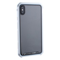 "Чехол-накладка противоударный (AL&Glass) для Apple iPhone XS Max (6.5"") G-Solace серебристо-белый ободок"