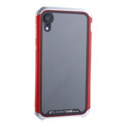 "Чехол-накладка Element Case (AL&Glass) для Apple iPhone XR (6.1"") G-Solace серебристо-красный ободок"