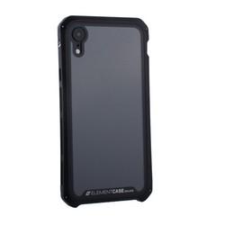 """Чехол-накладка противоударный (AL&Glass) для Apple iPhone XR (6.1"""") G-Solace черный ободок"""