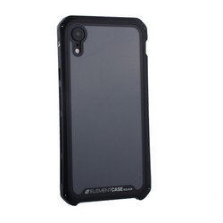 "Чехол-накладка Element Case (AL&Glass) для Apple iPhone XR (6.1"") G-Solace черный ободок"