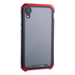 """Чехол-накладка противоударный (AL&Glass) для Apple iPhone XR (6.1"""") G-Solace красно-черный ободок"""