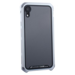 "Чехол-накладка Element Case (AL&Glass) для Apple iPhone XR (6.1"") G-Solace серебристо-белый ободок"
