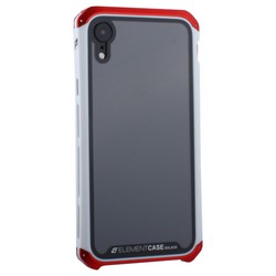 "Чехол-накладка Element Case (AL&Glass) для Apple iPhone XR (6.1"") G-Solace красно-белый ободок"