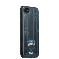 "Накладка пластиковая iBacks Ninja PC Case для iPhone 8/ 7 (4.7"") - (ip70007) Black Черная"
