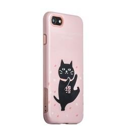 "Набор iBacks Lady's 2-piece Suit - Танцующий Кот зеркало&гребень&накладка для iPhone 8/ 7 (4.7"") - (ip70000) Розовый"