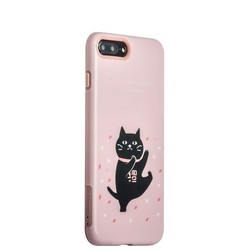 "Набор iBacks Lady's 2-piece Suit - Танцующий Кот зеркало&гребень&накладка для iPhone 8 Plus/ 7 Plus (5.5"") - (ip70001) Розовый"