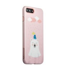 """Набор iBacks Lady's 2-piece Suit - Сонный Медведь зеркало&гребень&накладка для iPhone 8 Plus/ 7 Plus (5.5"""") - (ip70003) Розовый"""