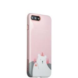 """Набор iBacks Lady's 2-piece Suit - Приветствие Медведя зеркало&гребень&накладка для iPhone 8 Plus/ 7 Plus (5.5"""") - Розовый"""