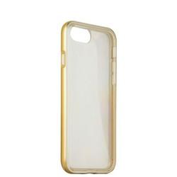 Чехол&бампер силиконовый прозрачный для iPhone SE (2020г.)/ 8/ 7 (4.7) в техпаке Золотистый борт