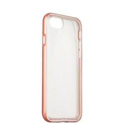 Чехол&бампер силиконовый прозрачный для iPhone SE (2020г.)/ 8/ 7 (4.7) в техпаке Розовое золото борт