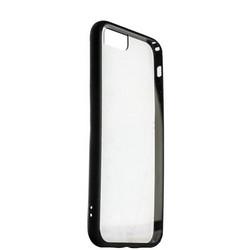 Накладка пластиковая прозрачная для iPhone SE (2020г.)/ 8/ 7 (4.7) в техпаке черный борт