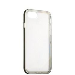 Чехол&бампер силиконовый прозрачный для iPhone SE (2020г.)/ 8/ 7 (4.7) в техпаке Space grey «Серый космос» борт