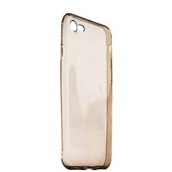 Чехол силиконовый для iPhone SE (2020г.)/ 8/ 7 (4.7) супертонкий в техпаке (прозрачно-чёрный)