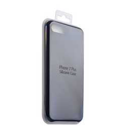 Чехол-накладка силиконовый Silicone Case для iPhone 8 Plus/ 7 Plus (5.5) Black Черный №18